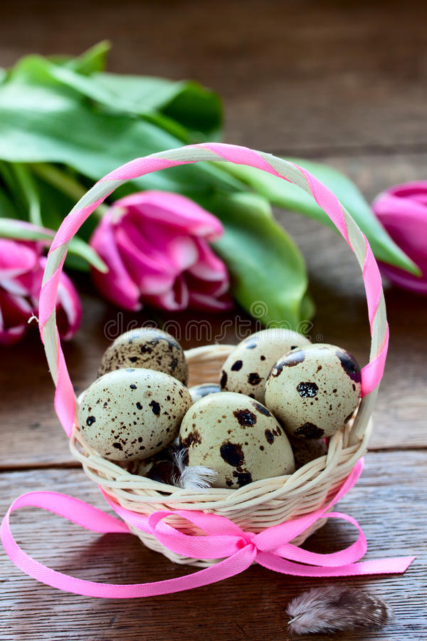 Download Basket with Easter eggs stock photo. Image of decoration - 39501870