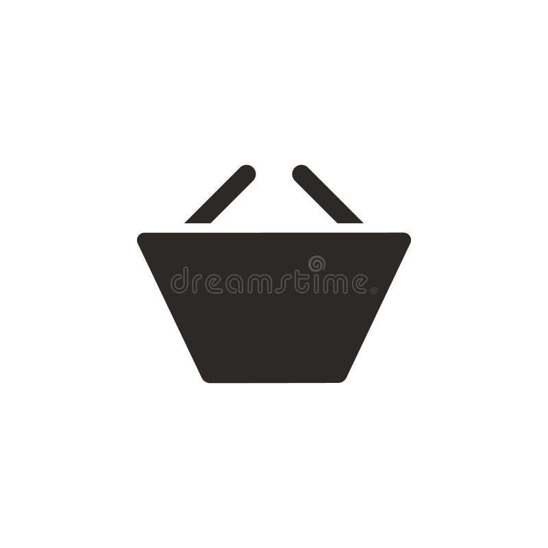 Basket, ecommerce, shop vector icon. Simple element illustration from UI concept. Basket, ecommerce, shop vector icon. Finance royalty free illustration