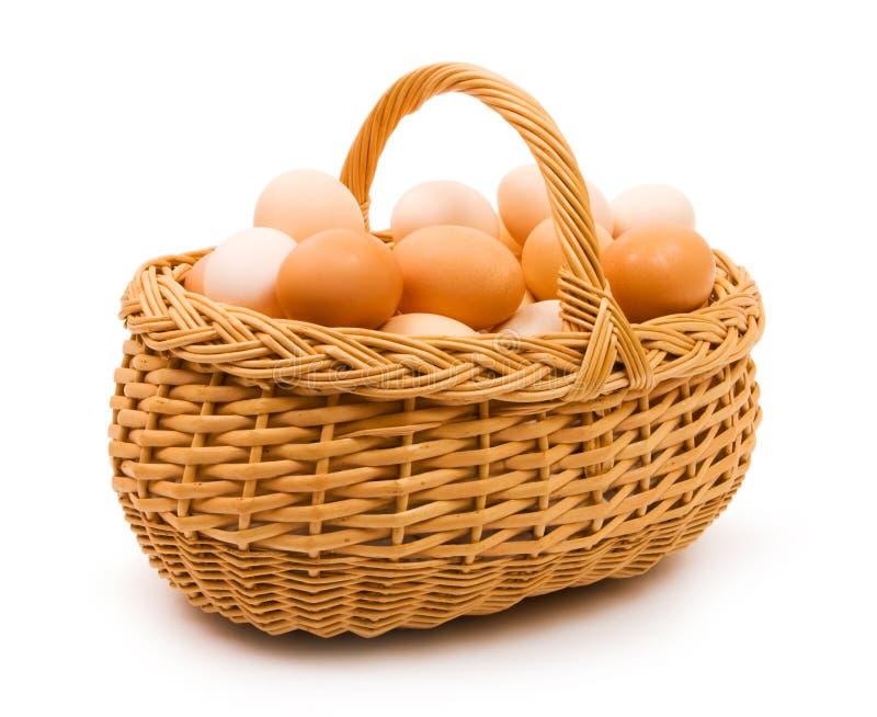 Basket of eggs royalty free stock photo