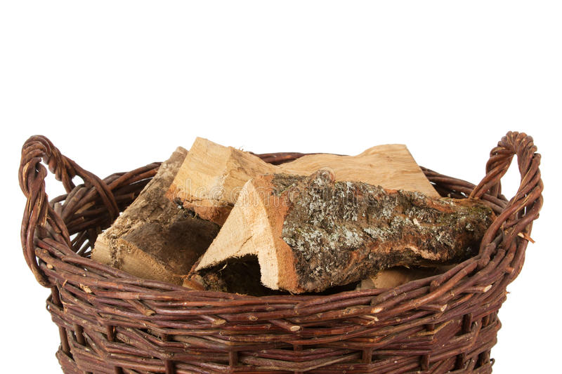 Download Basket with firewood stock photo. Image of heat, basket - 22756254