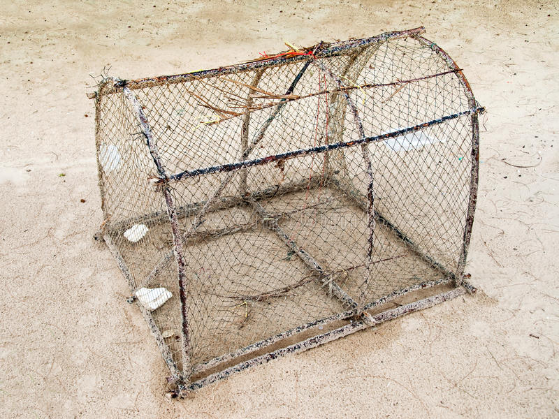 Basket fish trap stock photos
