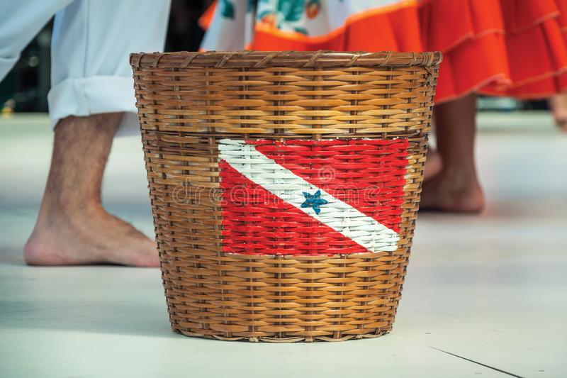 Basket with the flag of Para State. Basket with the flag of Brazilian State of Para, at the 47th International Folklore Festival of Nova Petropolis. A lovely stock images