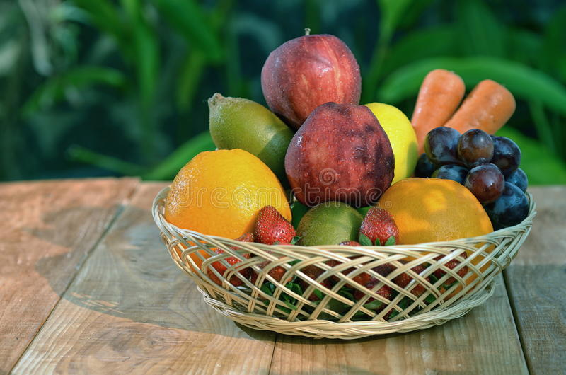 Download A basket of fresh fruit 02 stock photo. Image of green - 25977706