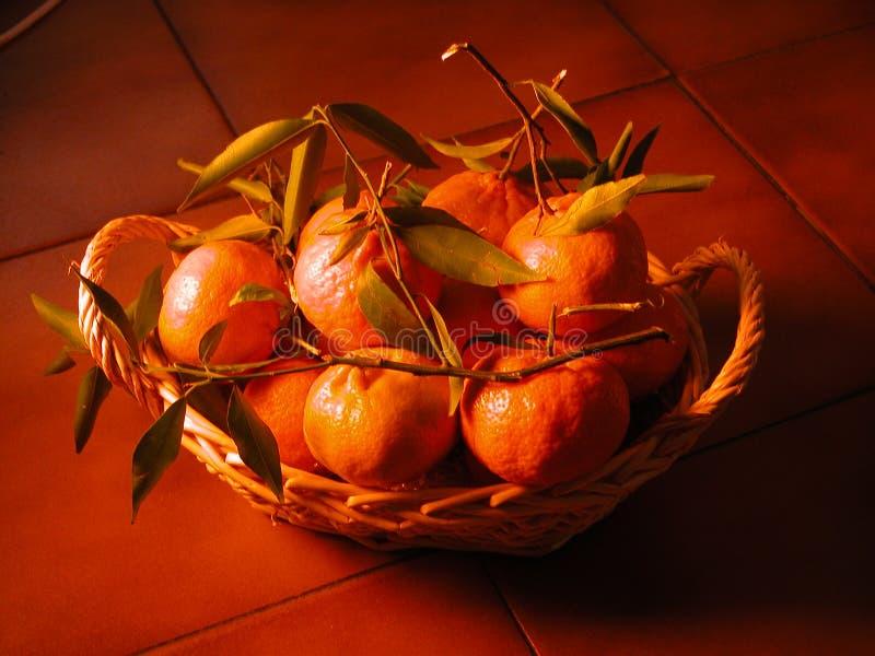 Basket of fruit stock images