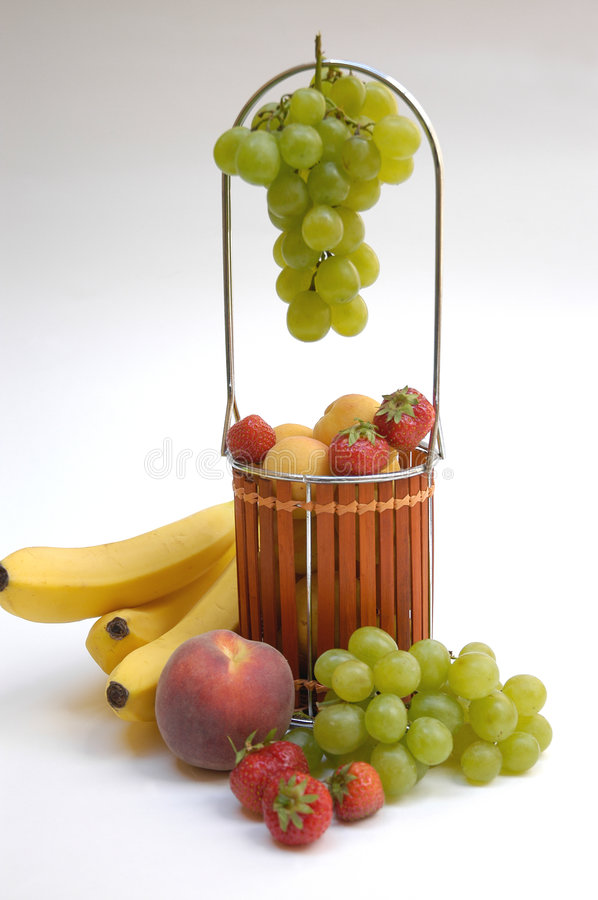 Basket with fruits III royalty free stock photo