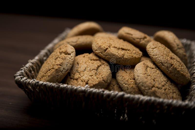 Basket full of cookies royalty free stock photo
