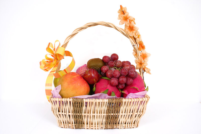 Download Basket full of fruits stock image. Image of fresh, collection - 1831755