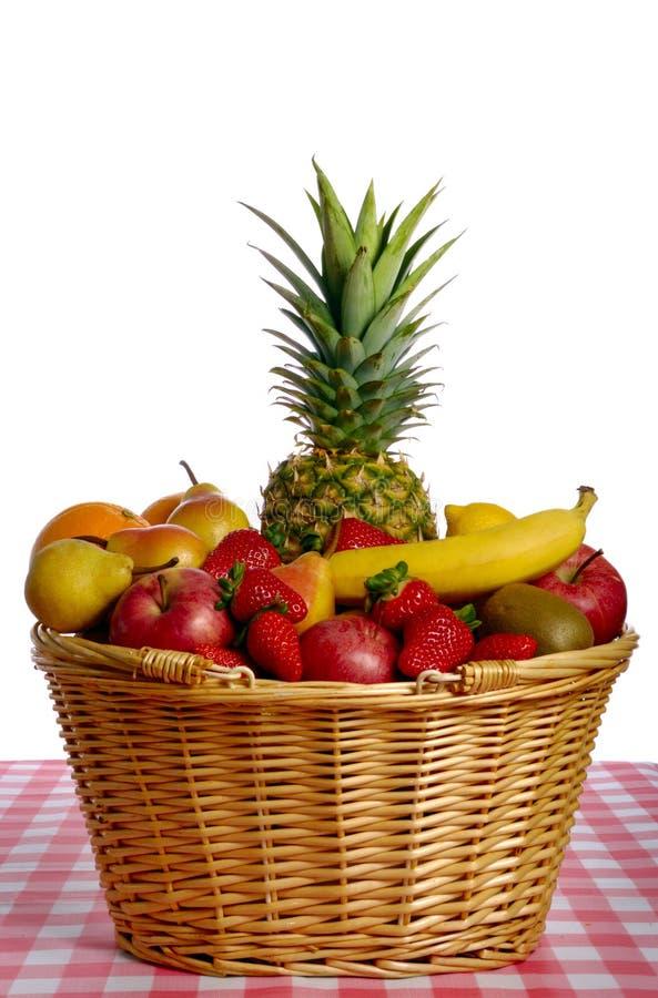 Basket full of fruits royalty free stock photos