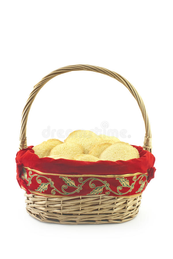 Basket Full Of Holiday Cookies stock photos