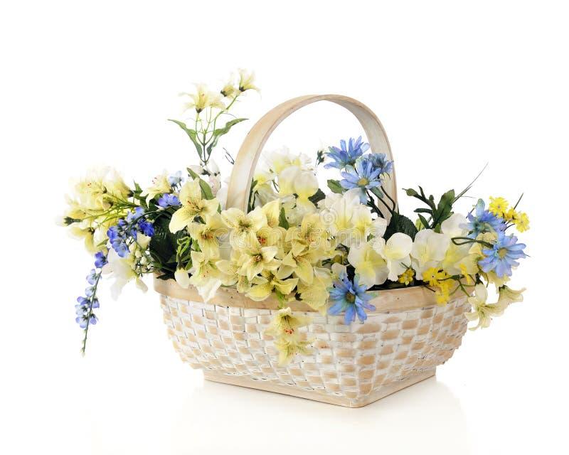 Download Basket Full of Posies stock photo. Image of white, basket - 28208620