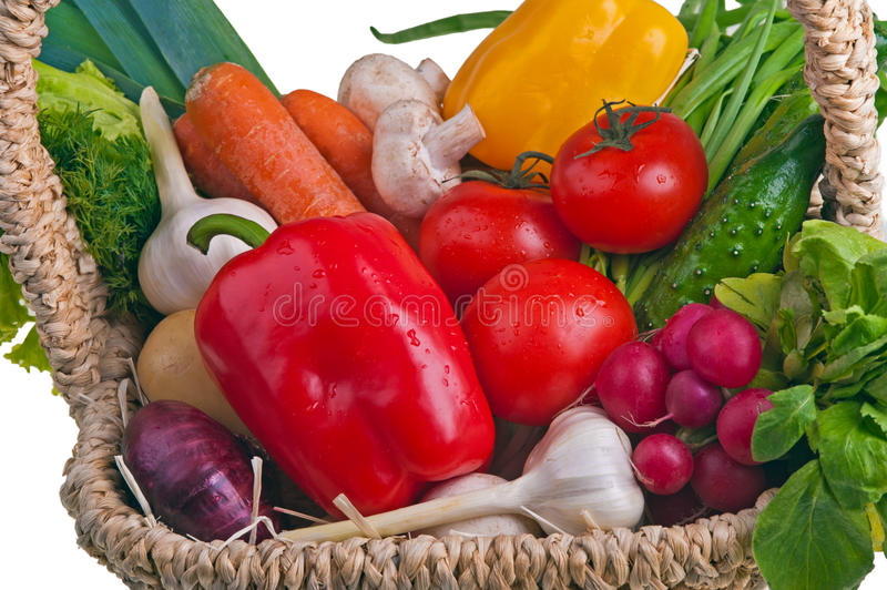 Download Basket Full Of Vegetable Royalty Free Stock Photos - Image: 25036538