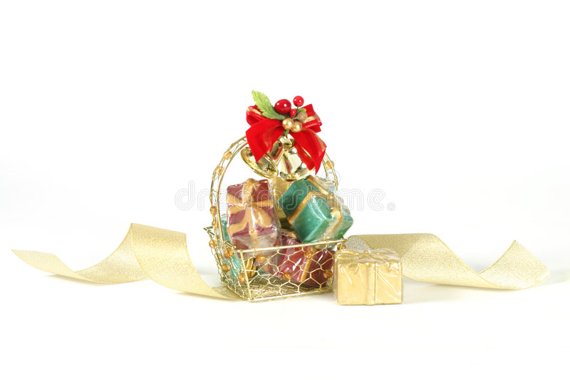 Basket of Gifts stock photography