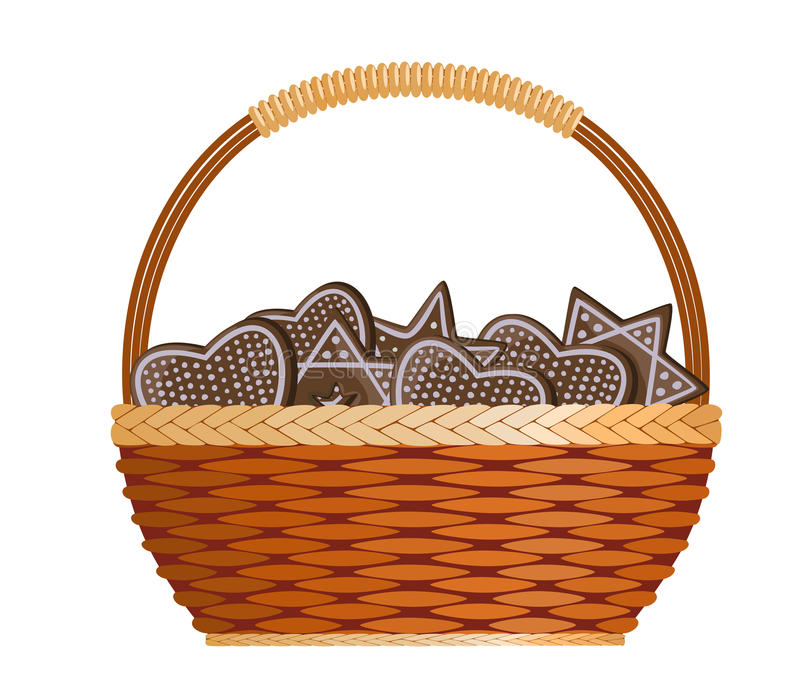 Basket With Ginger Cakes Royalty Free Stock Photos