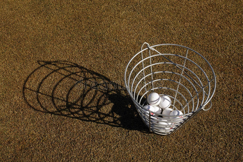 Download Basket of golf balls stock photo. Image of compete, hobby - 34939708