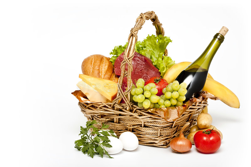 Download Basket of goods stock photo. Image of bread, shopping - 8546466