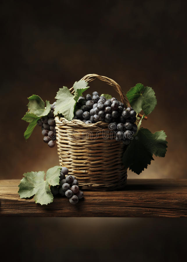 Basket of grape royalty free stock photography