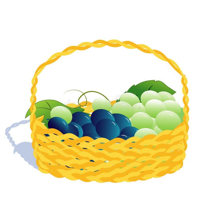 Basket with grape
