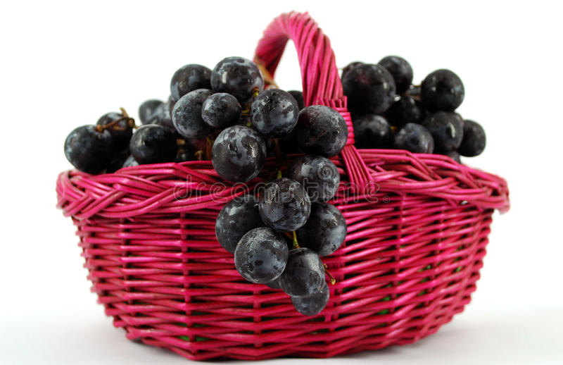 Download Basket with grapes stock photo. Image of sweet, detail - 10452040