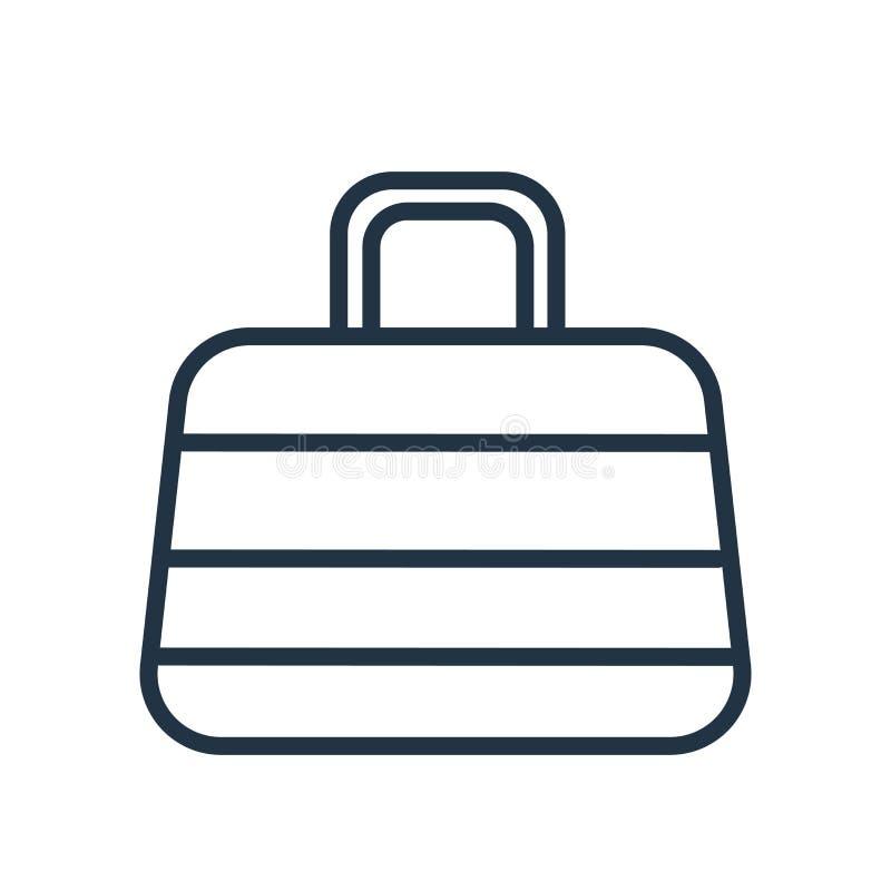 Basket icon vector isolated on white background, Basket sign royalty free illustration
