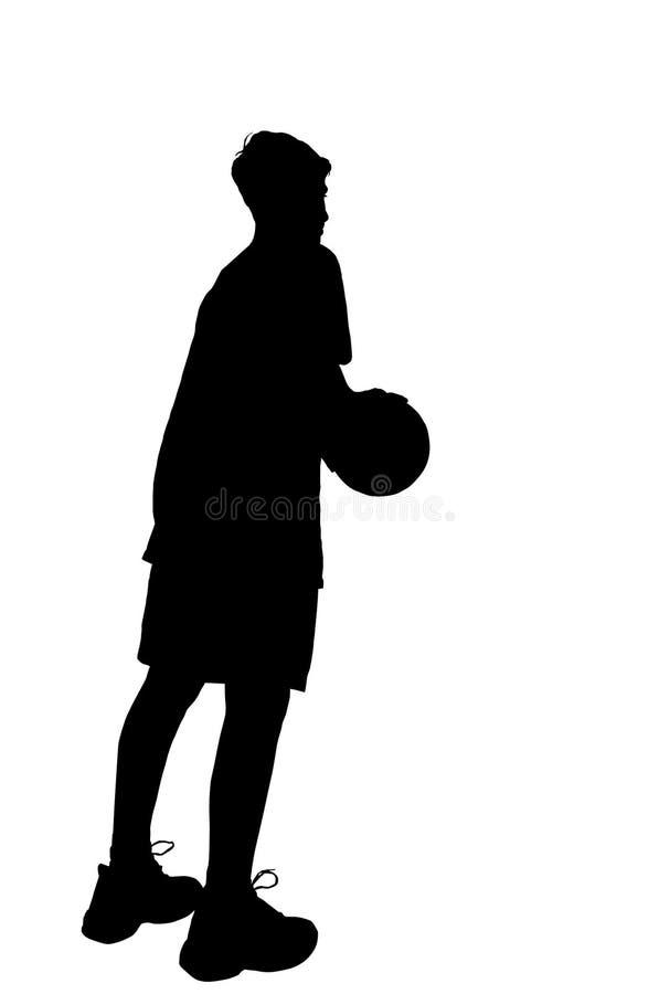 basket isolerad spelare vektor illustrationer