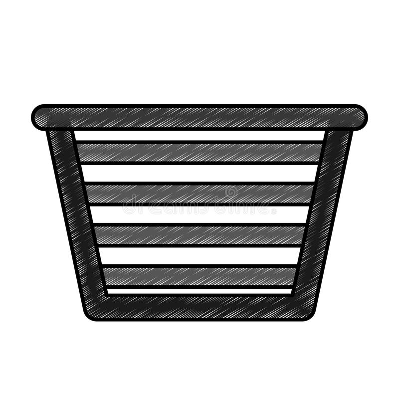 Basket for laundry clothes. Vector illustration design royalty free illustration