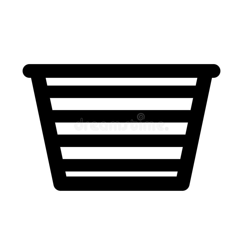 Basket for laundry clothes. Vector illustration design stock illustration