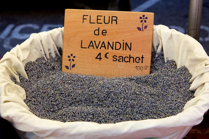 Download A Basket Of Lavender In A French Market Stock Photo - Image: 15364626