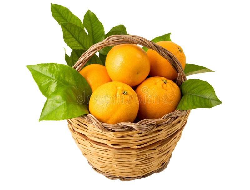 Download Basket With Oranges Royalty Free Stock Images - Image: 7824059