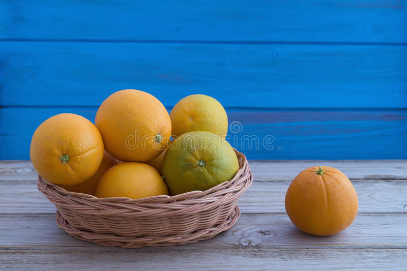 Download Basket with Oranges stock image. Image of wood, citrus - 36271703