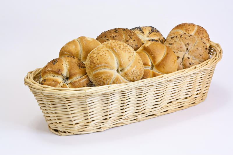 Basket With Pastry Royalty Free Stock Image