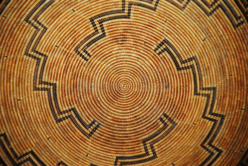 Basket Pattern. A Native American woven basket pattern stock photography