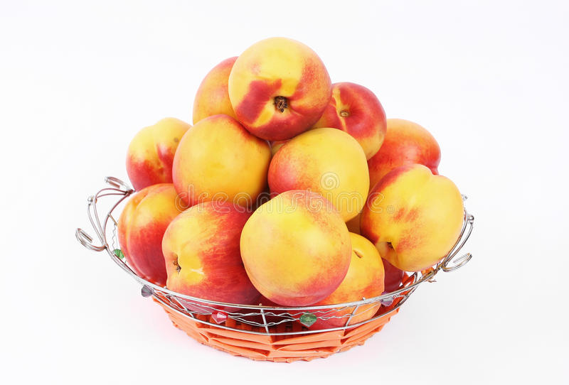 Download Basket of peaches stock image. Image of vitamins, metallic - 20702311