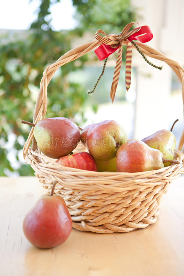 Download A basket with pears stock image. Image of leaves, ripe - 26665977