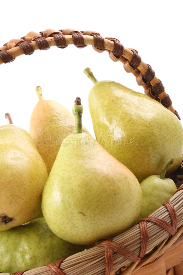 Basket of pears royalty free stock photography