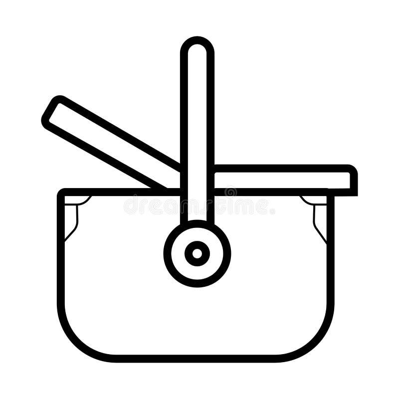Basket for picnic icon vector. Illustration vector illustration