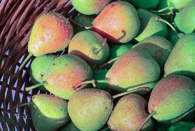 Basket with plenty of pear