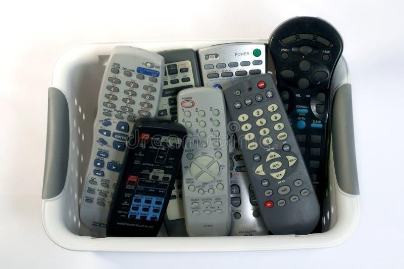 A basket of remotes stock photos