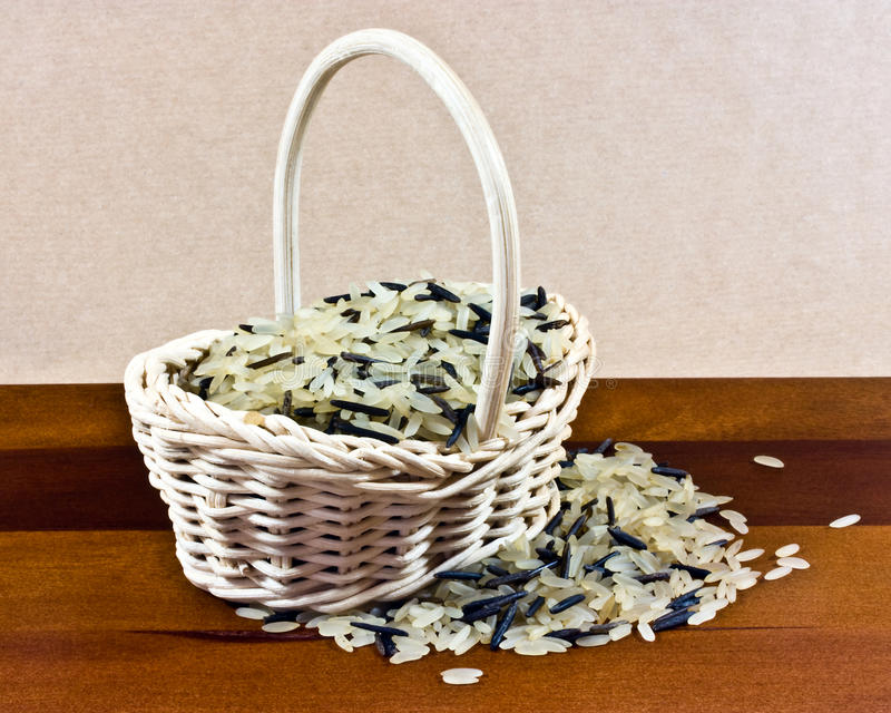 Download Basket of rice stock photo. Image of wicker, grains, long - 22121864