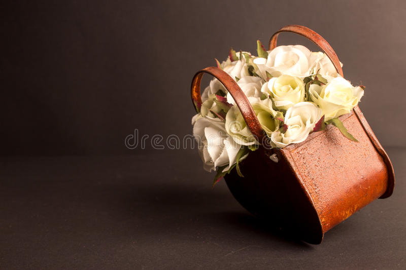 Basket of Roses stock photos