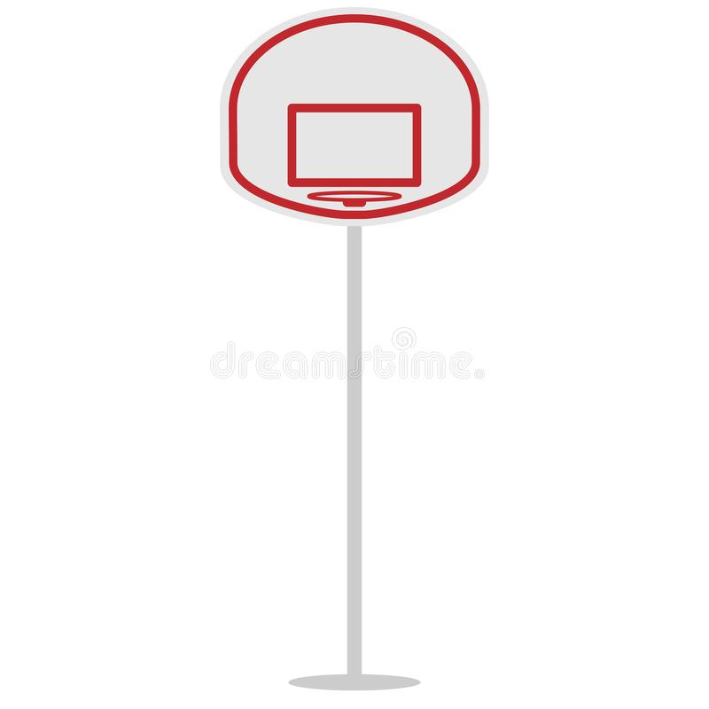 Basket shield and ring for the basketball vector illustration