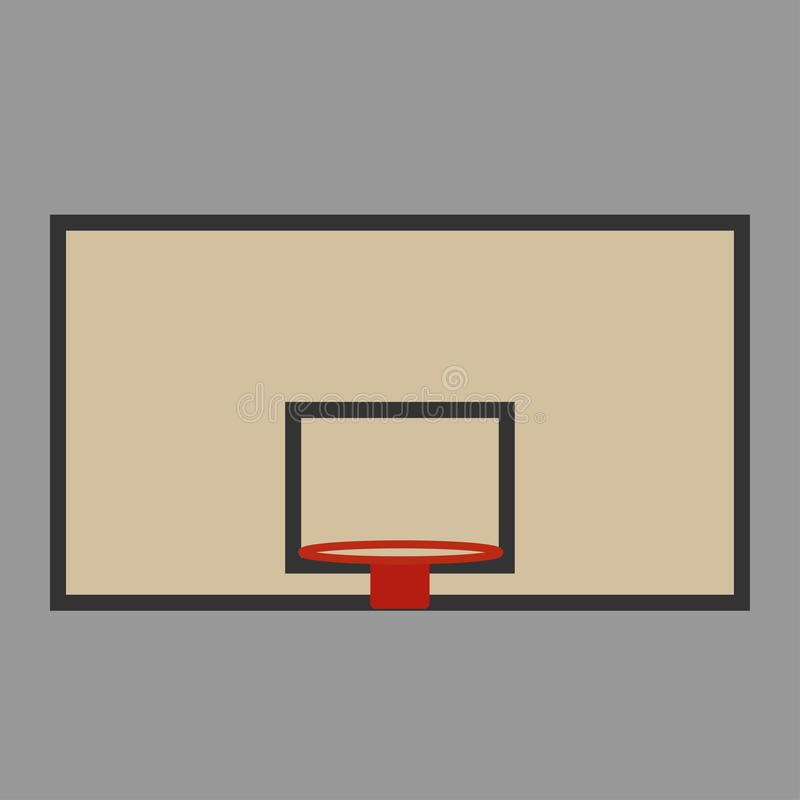 Basket shield and ring for the basketball stock illustration