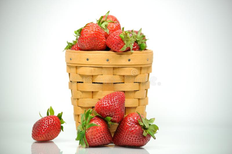 Basket of Strawberries stock images