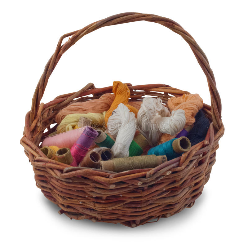 Download A basket of thread stock image. Image of yarn, knitting - 22341903