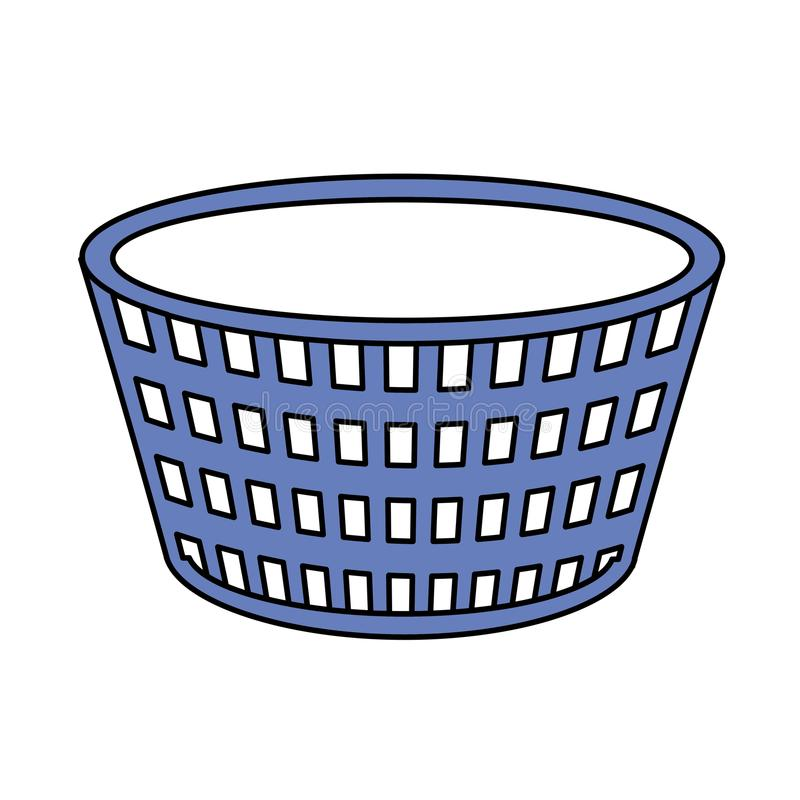 Basket to dirty clothes and domestic housework. Vector illustration royalty free illustration