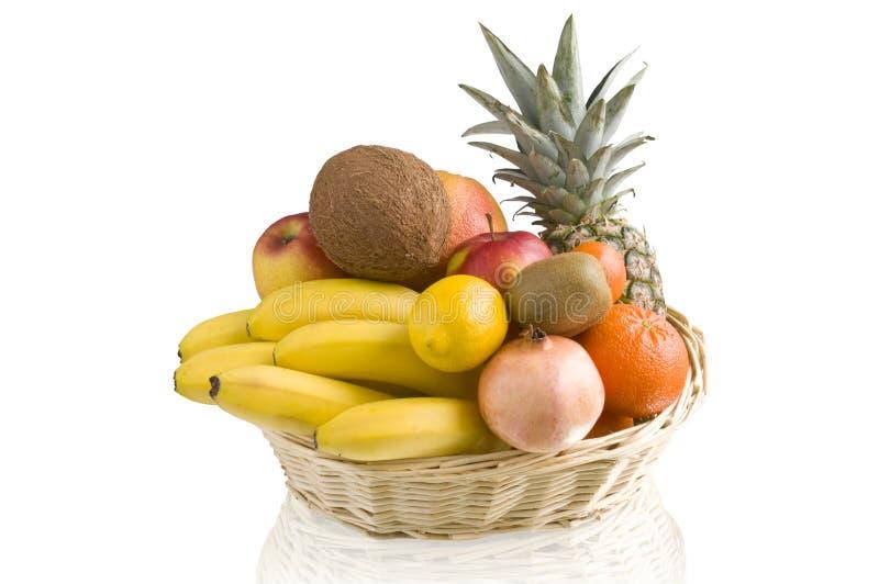 basket of tropical fruit royalty free stock image