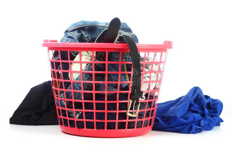 Basket Of Unfolded Clothes Stock Photography