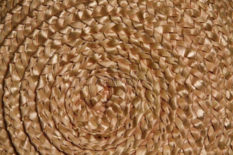 Basket wicker braid weave texture, Circle straw macro background royalty free stock image
