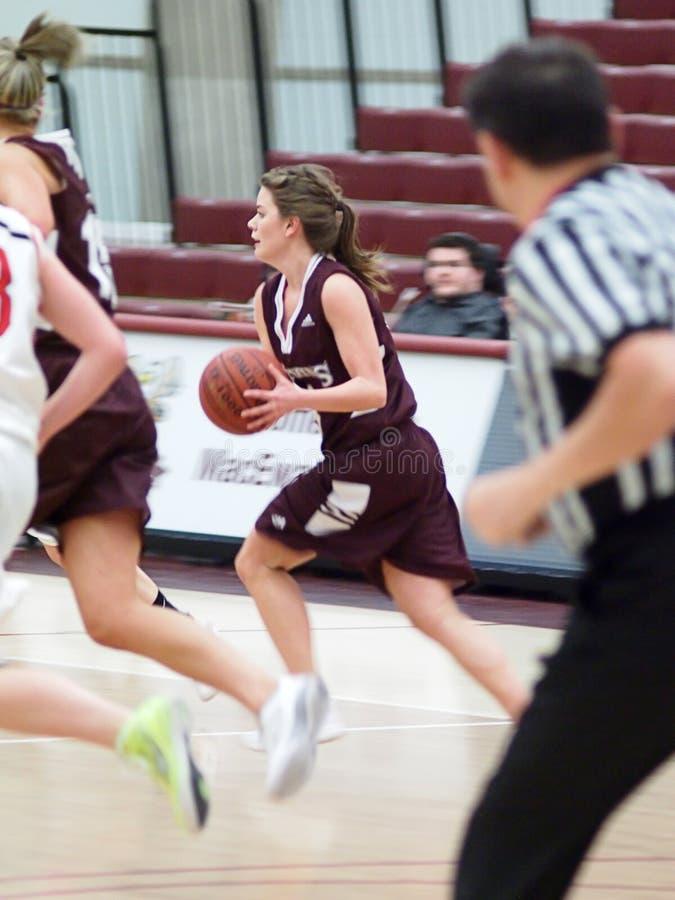 Basketbal 3 van de Universiteit van vrouwen royalty-vrije stock foto