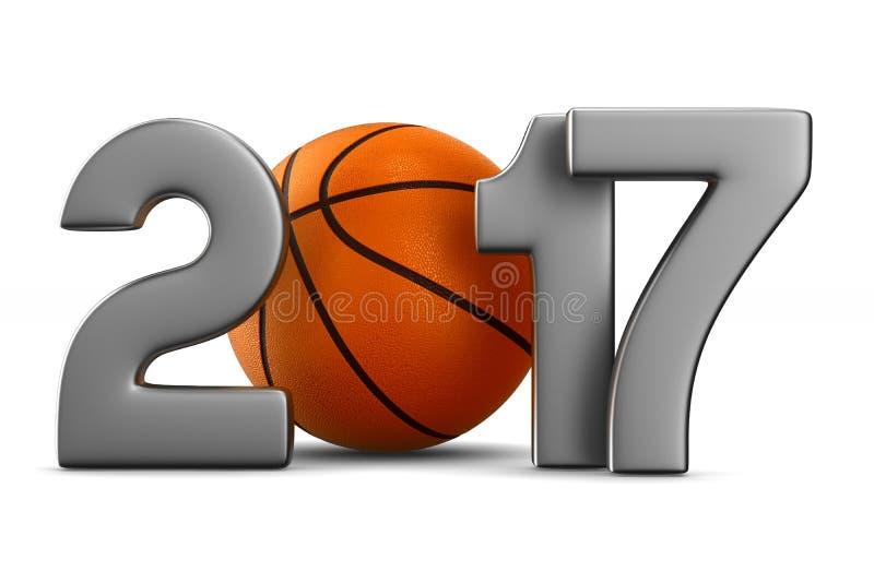 Basketbal 2017 stock illustratie