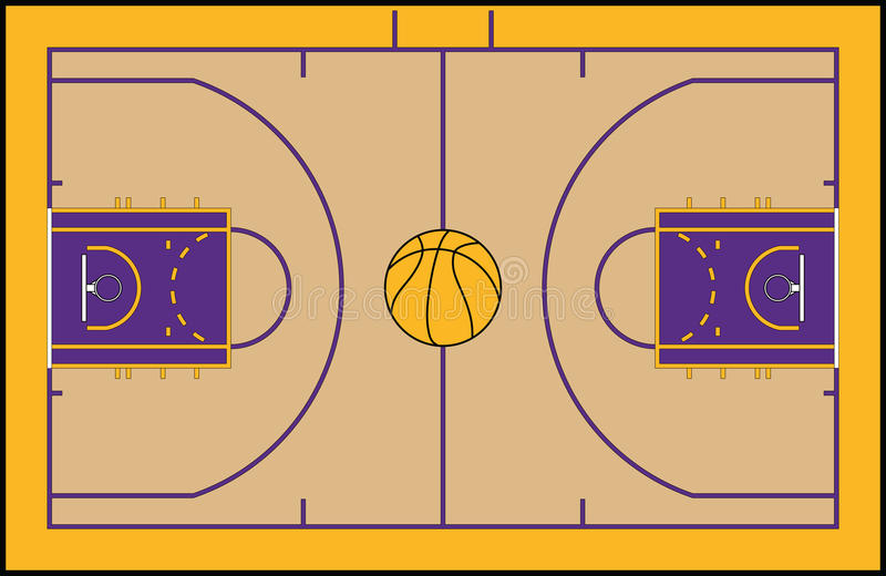 Basketbal court vector illustratie